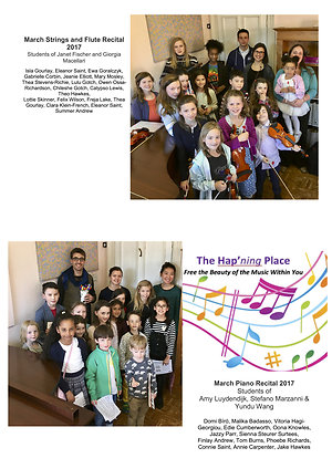 Events in Pictures. Student Recitals March 2017