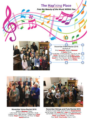 Events in Pictures. student recitals november 2016